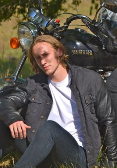 Denim/leather jacket $225 with protective liner and removable armour for motorcycle riding