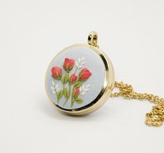 Excited to share this item from my #etsy shop: MADE TO ORDER, Personalized floral locket, Pink roses flowers necklace, Birthday gift, Mom, Unique keepsake, Photo locket, Christmas Unique Birthday Gifts, Mom Birthday Gift, Brass Chain, Photo Jewelry, Necklace Lengths, Pink Roses, Gifts For Mom, Polymer Clay, Best Gifts