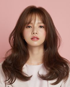 - All For Hair Color Balayage Korean Hairstyles Women, Hairstyles With Bangs, Japanese Hairstyles, Asian Hairstyles, Men Hairstyles, Korean Hairstyle Bangs, Hairstyle Ideas, Medium Hair Cuts, Medium Hair Styles