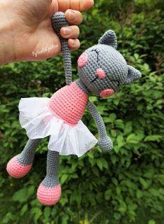 Häkelblog Verzeichnis : Ballerina Katze - Häkelanleitung