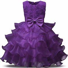 VIKITA Girl Dress Kids Ruffles Lace Party Wedding Flower girls Dresses