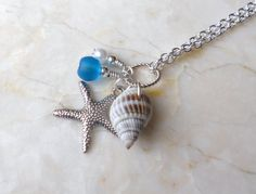 Sea Shell and Stafish Bridesmaid Necklaces Beach by ShoreItUp, $19.25