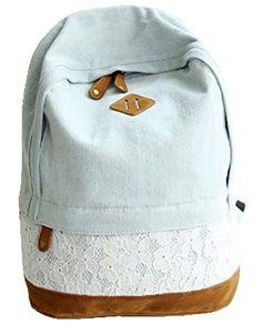 351807695d Arin Filles Garçons adolescents Bleu Clair Toile sac de randonnée de sac d'école  Sac à dos multi-fonction - Voyages, scolaire, loisirs: Amazon.fr: Bagages