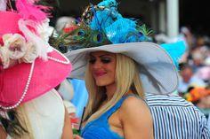 Big Beautiful hats at the Kentucky Derby. www.kentuckyderby.com