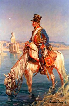 NAP- France: French Hussar in Egypt, by Eugène Leliepvre.