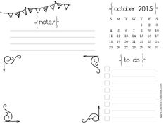 October 2015 Calendar Fillable - In this Post we're sharing latest ...