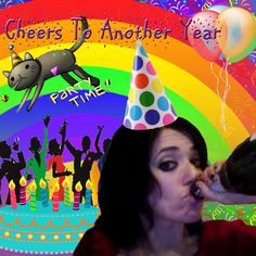 A birthday card for Stef via HAPPY BIRTHDAY STEF! LOVE, A+ AND THE INTERNET by Rachel W.
