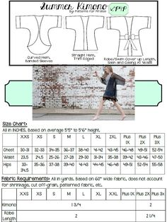 This is a PDF sewing pattern and tutorial to teach you how to create these shirts. THIS IS NOT A FINISHED PRODUCT.  This beginner/intermediate pattern has all the style you need in a loose, flowy, comfortable cover up! The loose fit and trendy style will give you that effortless boho look with a super quick and easy sew, you will want one for everyday! Suggested fabrics are a lightweight knit, or lightweight specialty woven with a soft drape like chiffon, rayon challis, peachskin, ect. This…