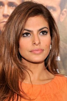 Eva Mendes hairstyle inspiration: long  hairstyle that's casual yet glamorous.