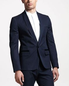 Satin-Trim Evening Jacket by Maison Martin Margiela at Bergdorf Goodman.