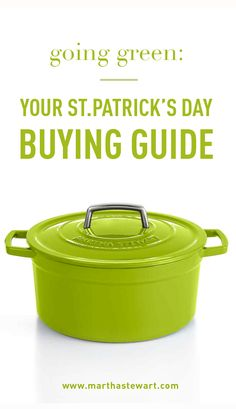 Going Green: Your St. Patricks' Day Buying Guide | Martha Stewart Living