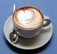 the froth of cappuccino