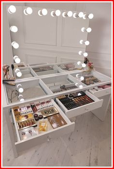 mirrored 2 drawers makeup vanity dressing table-#mirrored #2 #drawers #makeup #vanity #dressing #table Please Click Link To Find More Reference,,, ENJOY!!