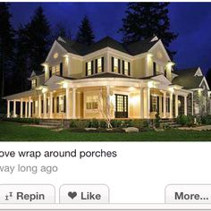 Like the style odd the house, & Love a wrap around porch