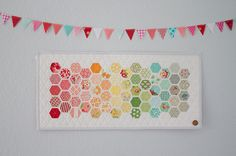 bonnie & camille modern hexies mini quilt | Flickr - Photo Sharing!