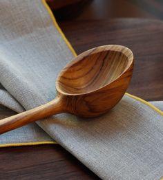 beautiful teak ladle