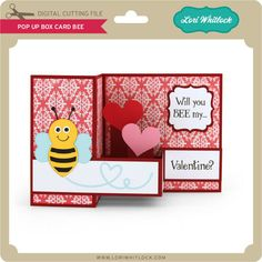 Pop up boxcard box card with a bee on the front