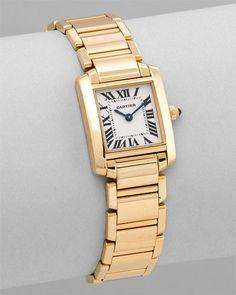 "Cartier Women's ""Tank Francaise"" love this watch"