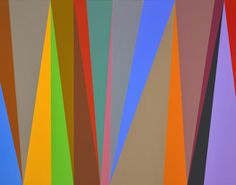 Karl Benjamin, #6, 1995, oil on canvas, 44 x 56 inches