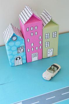 Cute craft using milk and juice cartons.