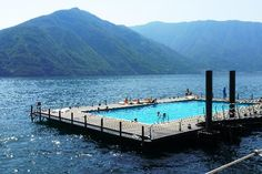 Floating Pool on the Lake at Grand Hotel Tremezzo in Italy