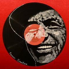 Yury Ermolenko, ''Frank Sinatra''- Facevinyl - THE BIG COLLECTION - №13, side I, 2013, acrylic on vinyl. The History of Jazz and Blues. #YuryErmolenko #еrmolenko #ЮрийЕрмоленко #ермоленко #yuryermolenko #юрийермоленко #юрiйєрмоленко #ЮрiйЄрмоленко #єрмоленко #rapanstudio #modernart #fineart #contemporaryart #painting #art #vinyl #texture #portrait #music #jazzmusic #RapanStudio #портрет #певец #singer #Facevinyl #FrankSinatra #actor #jazz #jazzsinger #jazzlegend #charisma #artproject #red…