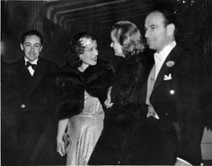 Carole Lombard and screenwriter Robert Riskin with Norma Shearer and her husband Irving Thalberg