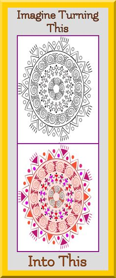 Coloring Book Pages Printable Mandala Art Therapy Zen Colors Palette Outlines Ideas