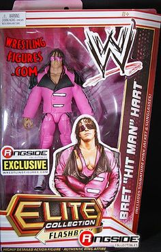 BRET HART 'PINK & BLACK ATTACK' – RINGSIDE COLLECTIBLES ELITE EXCLUSIVE WWE TOY WRESTLING ACTION FIGURE  BRET HART 'PINK & BLACK ATTACK' – RINGSIDE COLLECTIBLES ELITE FLASHBACK EXCLUSIVE WWE MATTEL TOY WRESTLING ACTION FIGURE This is a Limited Edition Bret Hart Figure and features Elite Style articulation! This is a Limited Edition Bret Hart Figure and features Elite Style articulation! Accessories include pink sunglasses and a removable pink and black jacket!  http://www.newaction..