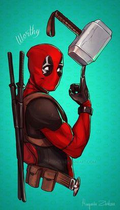 ribkaDory - Marvel X-Men Deadpool Deadpool Und Spiderman, Deadpool Art, Deadpool Funny, Deadpool Quotes, Deadpool Tattoo, Deadpool Costume, Deadpool Movie, Deadpool Painting, Deadpool Symbol