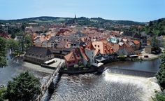 One of the oldest villages in the Czech Republic, Cesky Krumlov, a three-hour bus ride from Prague, is set in a valley in Bohemia south of the Blansko Forest and circled by the Vltava River. (From: 20 Places in Europe You Haven't Seen) Vacation Places, Vacation Trips, Dream Vacations, Vacation Spots, Places To Travel, Vacation Ideas, Vacation Destinations, Places In Europe, Places Around The World