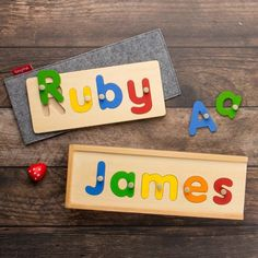 Name Puzzle   Wooden Name Puzzle   Personalised Wooden Name Puzzles for Kids ~ tinyme.com.au
