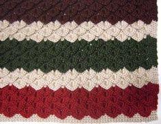 Crocodile Stitch Crochet Afghan