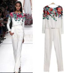 2014 new women's rompers womens jumpsuit overalls for women star catwalk models printed one piece pants elegant jumpsuits - http://nklinks.com/product/2014-new-women-s-rompers-womens-jumpsuit-overalls-for-women-star-catwalk-models-printed-one-piece-pants-elegant-jumpsuits/