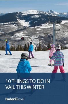 If you're heading to Vail anytime soon, here are 10 things you absolutely can't miss. Winter Travel, Where To Go, Travel Usa, Mount Everest, North America, Skiing, Things To Do, Colorado, Mountains