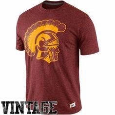 Nike USC Trojans Vault Old School Vintage Tri-Blend T-Shirt