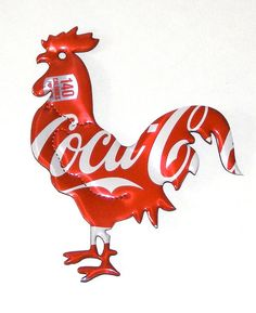 This one does sing in the mornings, well at leat here he does. Coca Cola Rooster…