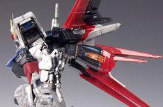 - Painted Build Modeled by RedBrick Strike Gundam, Gundam Model, 30th Anniversary, Concept Art, Guy, Building, Color, Highlight, Conceptual Art