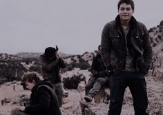 Cast feeling cold in TST behind the scenes - Thomas and Dylan gif