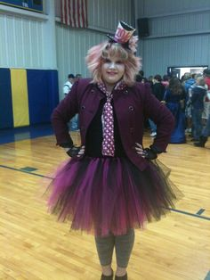 Mad Hatter!!! Goodwill top and jacket+custom made tutu=Super fun costume!!!