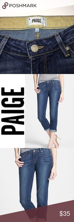"Paige Jimmy Jimmy Crop ✔️Uncuffed Inseam: 25.5"" ✔️Cotton•Polyester•Elastane ✔️No Holes, Stains or Damages Paige Jeans Jeans Ankle & Cropped"