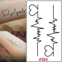 K with Hearts Tattoo Designs   Herz Design Körper Tattoo Aufkleber Frauen…