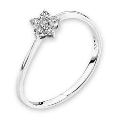 Diamantring Little Blossom, Weißgold 750, 6 Diamanten