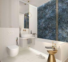 Elegancka łazienka z nutą glamour   Pracownia Projektowa Kinga Zdżalik - ArchiUp.com - Biblioteka 3D Cad 2d, Bathroom Inspiration, Future House, New Homes, Bathtub, House Design, Home Decor, Bathrooms, Bath