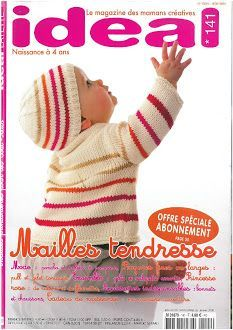 Idéal layette n - Album archivé consultable non téléchargeable - Amigurumi Knitting Magazine, Crochet Magazine, Baby Knitting Patterns, Baby Patterns, Crochet Baby, Knit Crochet, Knitting Books, Crochet Doll Clothes, Baby Gifts