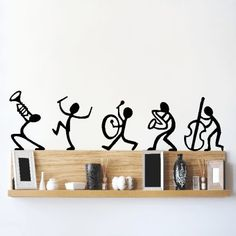 DeStudio Happy Band, Multi Color, Wall Stickers (Wall Covering Area : X DeStudio Happy Band, multicolore, stickers muraux (surface de revêtement mural: X Simple Wall Paintings, Creative Wall Painting, Wall Painting Decor, Diy Wall Decor, Creative Walls, Wall Stickers, Wall Decals, Mur Diy, Wall Drawing