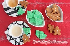 Lots of recipes for making homemade sugar cubes - this one makes christmas shapes and dried in oven