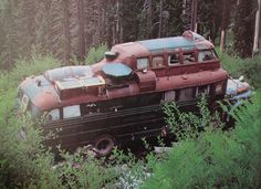 Stunning abandoned steampunk bus