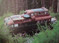 Stunning abandoned steampunk bus   .#jorgenca.