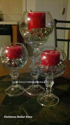 Dollar Tree candlesticks and bowls.Add small bulbs and greenery and these are wi. Dollar Tree candlesticks and bowls.Add small bulbs and greenery and these are wi. Dollar Tree candlesticks and bowls. Diy Christmas Decorations Easy, Christmas Centerpieces, Birthday Decorations, Wedding Decorations, Small Centerpieces, Quince Centerpieces, Dollar Tree Centerpieces, Dollar Store Christmas, Christmas Crafts